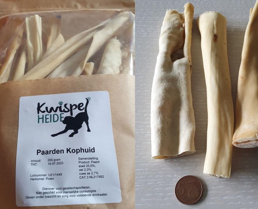 Natuurlijk kauwmateriaal hond - Paardenkophuid